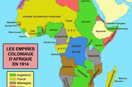 Carte de répartition des Etats coloniaux