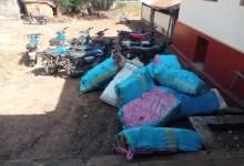 Des sacs de chanvre indien