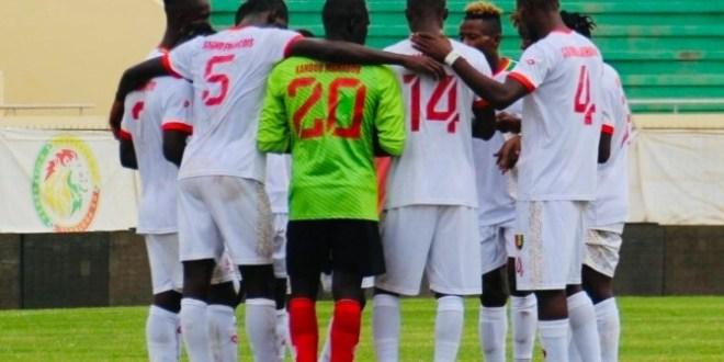 Des joueurs du Syli national de Guinée de moins de 20 ans