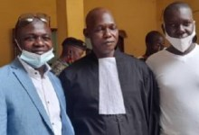 Souleymane Condé avec son avocat
