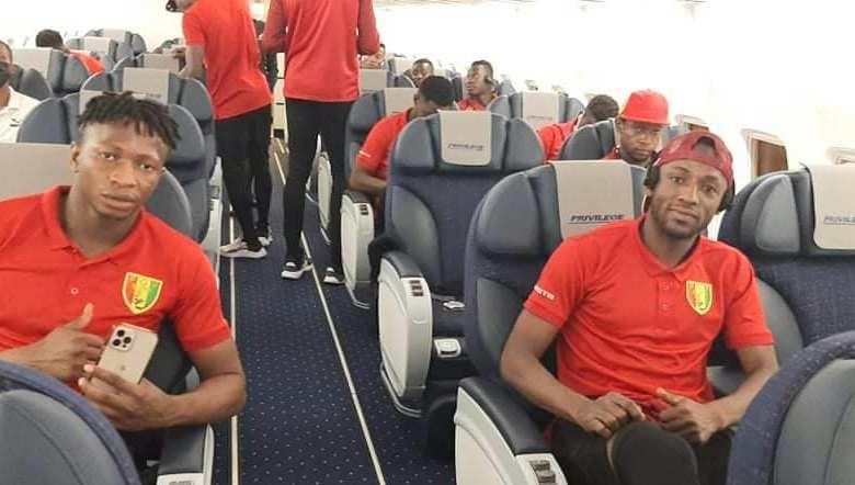 Syli National de Guinée - 21 joueurs au départ de Conakry pour Windhoek
