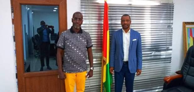 Le Président de l'union des consommateurs de Guinée Ousmane Keïta était ce jeudi au ministère de l'industrie et des PME.