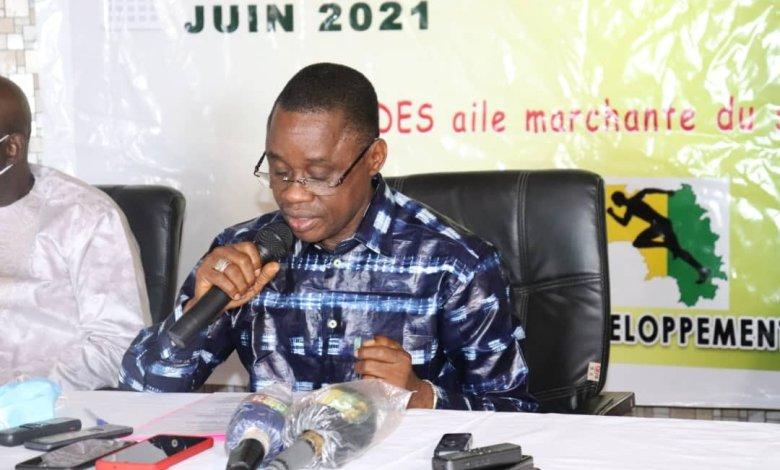 le Ministre d'Etat, Ministre des Sports, Sanoussy Bantama Sow