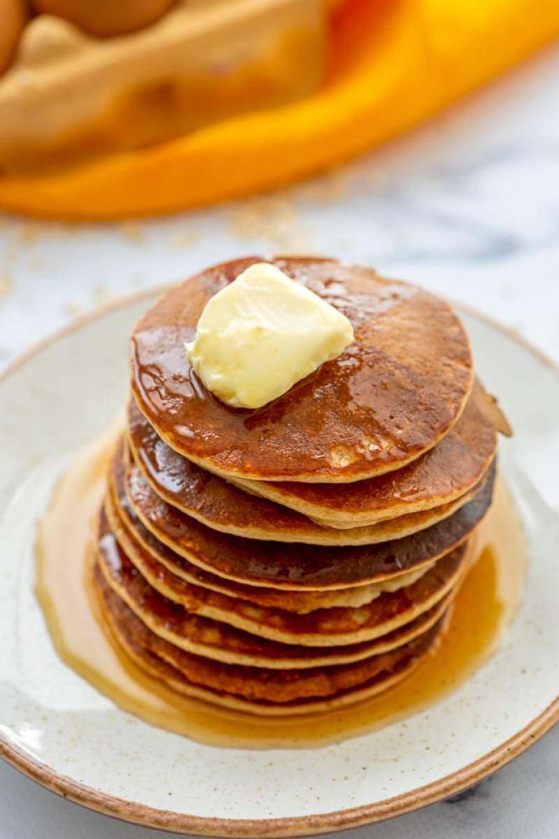 Blender Gluten Free High Protein Pancakes: Easy, healthy, fluffy, and tender gluten free pancakes. No one can resist these!