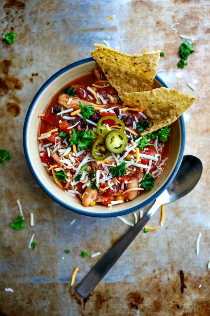 Crock-Pot Chicken Chili: An easy southwestern chili that can be made to suit whatever you have on hand.