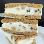 Homemade Blondie Ice Cream Sandwiches