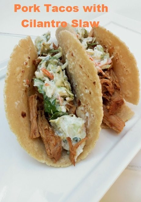 Juicy Pork Carnita topped with Mexican Slaw