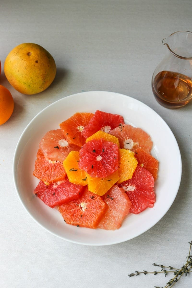 Thyme and Maple Infused Citrus Salad