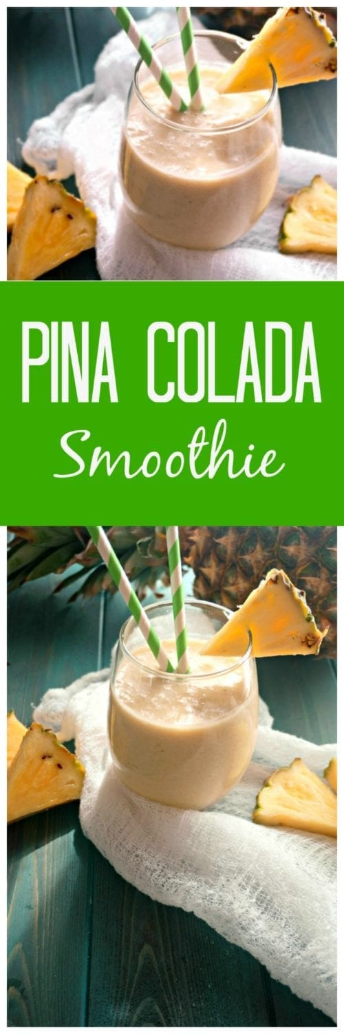 Pina Colada Smoothie: Rich coconut, fresh pineapple and orange juice and bananas create a creamy, all-natural version of a favorite cocktail. Coconut rum optional.