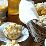 Cheddar Apple Sausage Muffins with Cinnamon Honey Butter