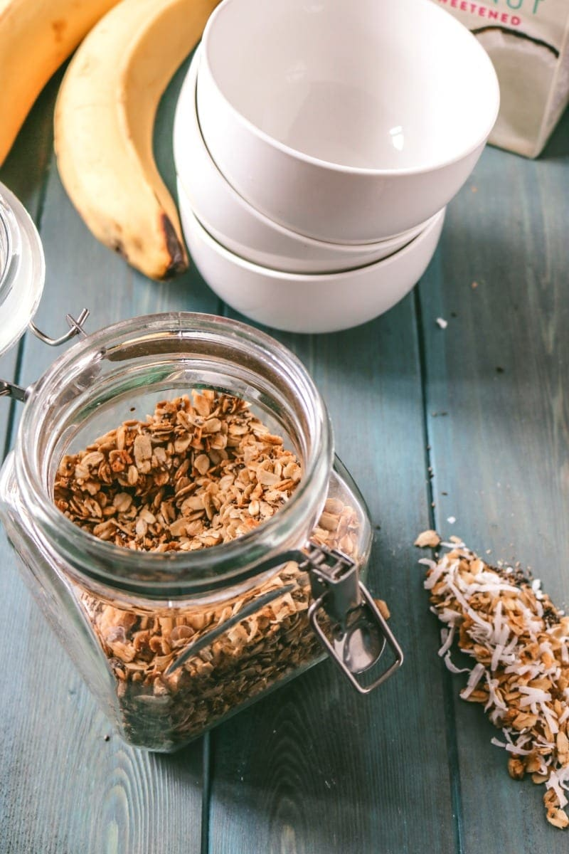 Coconut Maple Granola: Easy, healthy, vegan, gluten-free.
