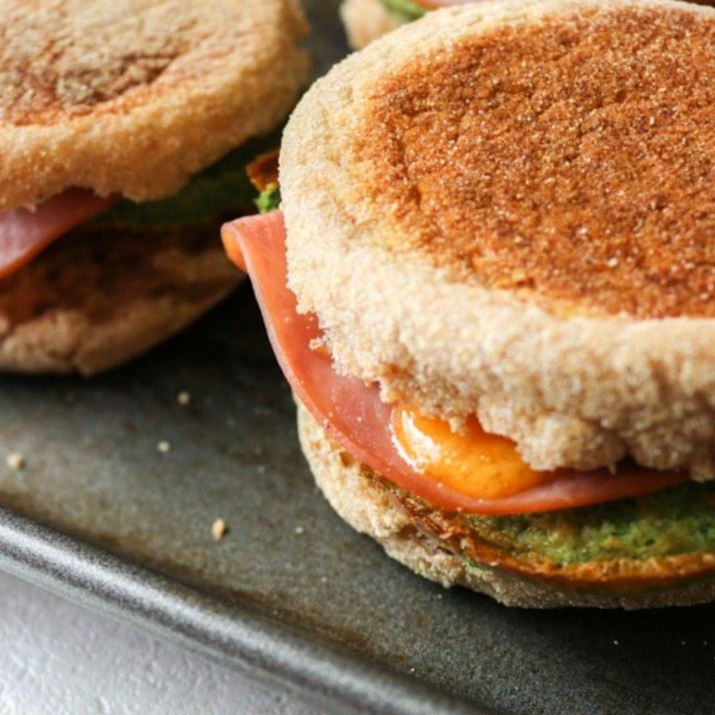 Spinach Egg Sandwiches