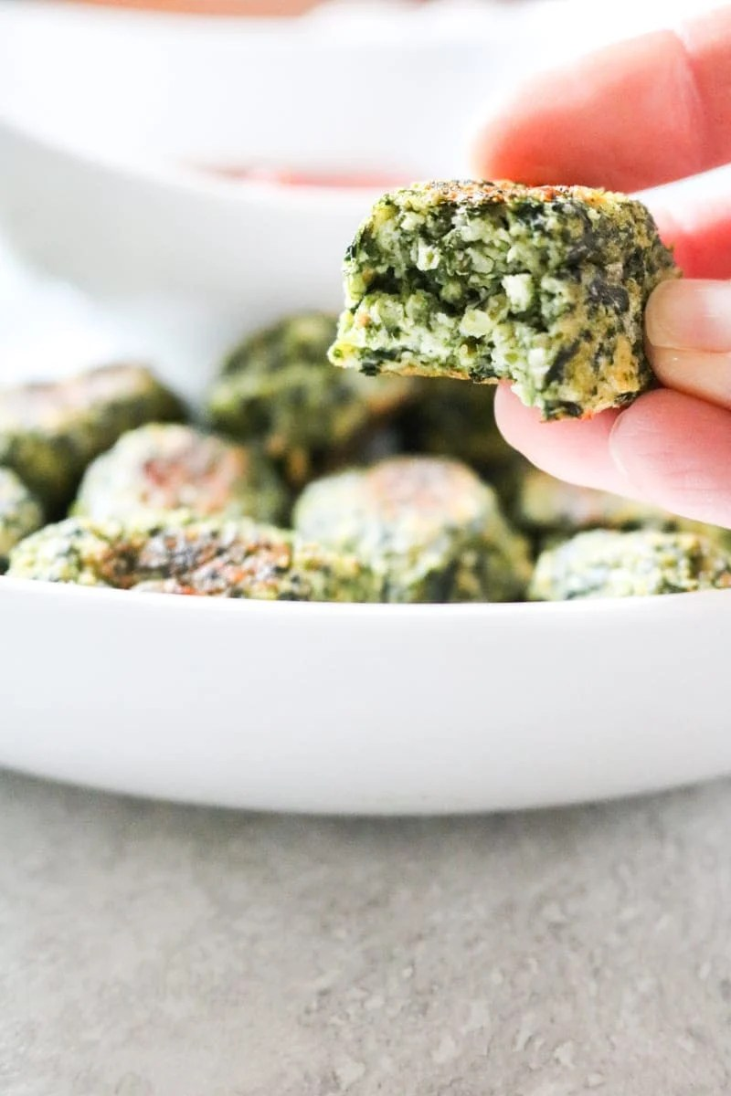 Vegetable Tots: Spinach and Zucchini Bake up in a cheesy nugget.