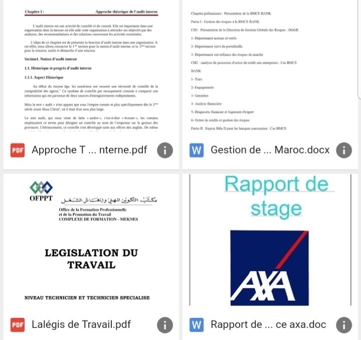 TÉLÉCHARGER RAPPORT DE STAGE OFPPT DOC