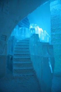 Ice Hotel with Stairs