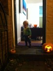 Getting ready to trick or treat the street.