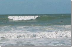 Hurricane Ike waves at White Ave Holmes Beach