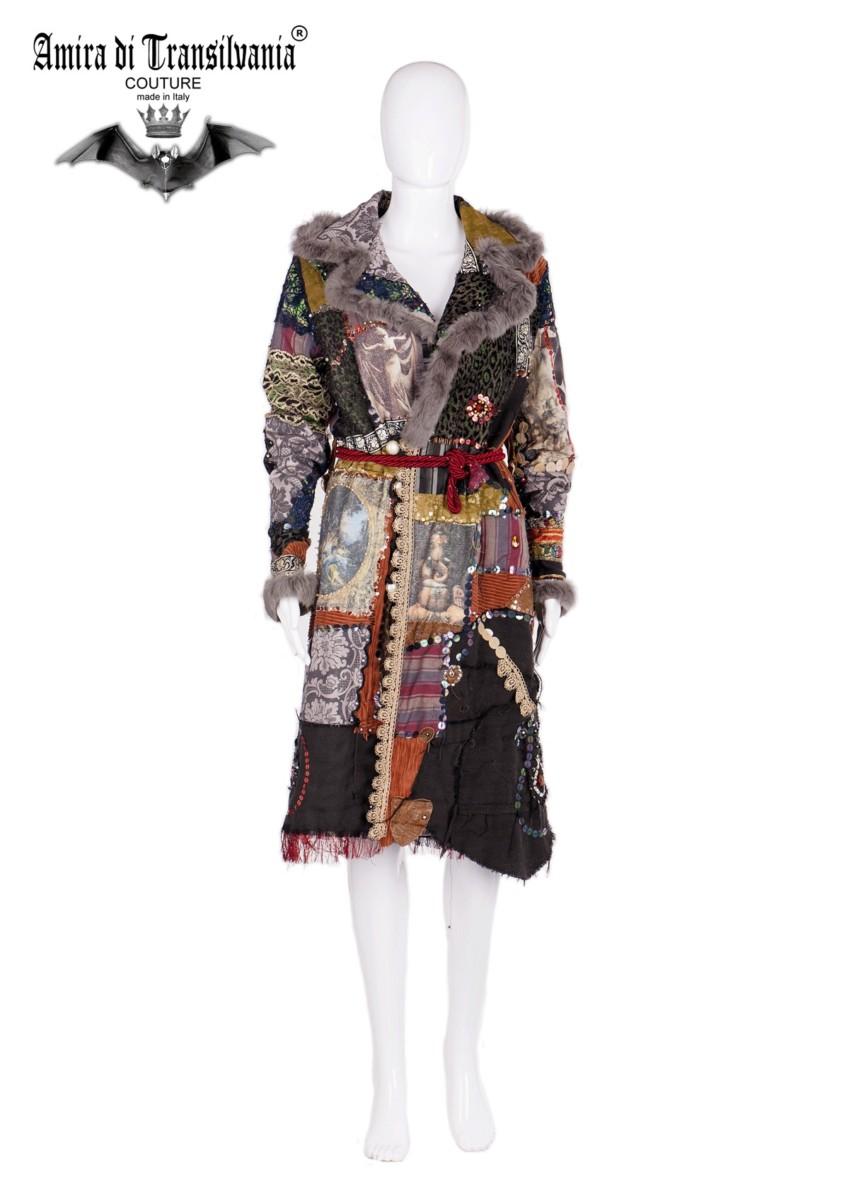 Cappotto a patchwork stile bohemien