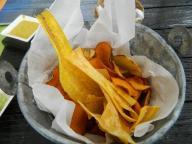 sweet potato, banana and potato chips