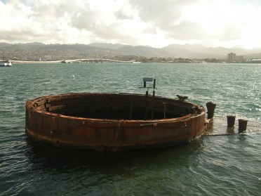 Part of the USS Arizona that is still above water