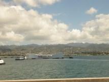 Pearl Harbor Memorial seen from the USS Missouri