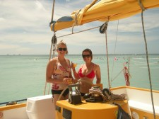 """we took many """"all-you-can-drink"""" catamaran rides"""