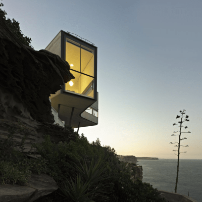 home on a cliff
