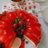Strawberry Jello Cream Cheese Bundt