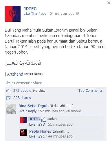 Johor cuti jumaat