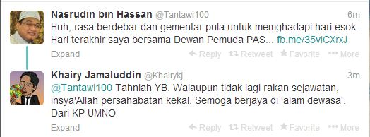 Nasaruddin vs Khairy