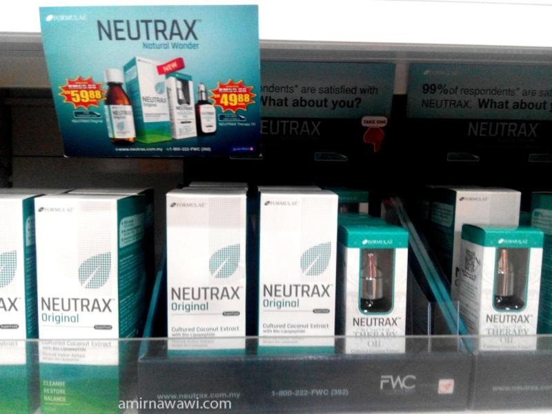 Neutrax Aromatheraphy oil juga sedang ada promosi di Guardian