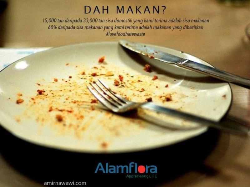 Sebanyak 15000 tan sisa makanan yang dihasilkan oleh rakyat Malaysia
