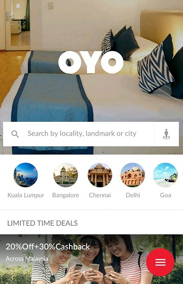 oyo rooms apps