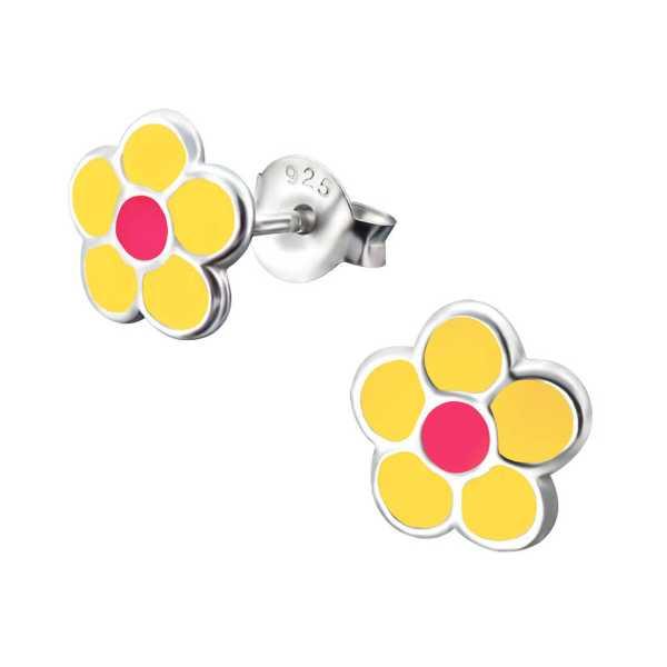 עגילי פרח צבעוניים
