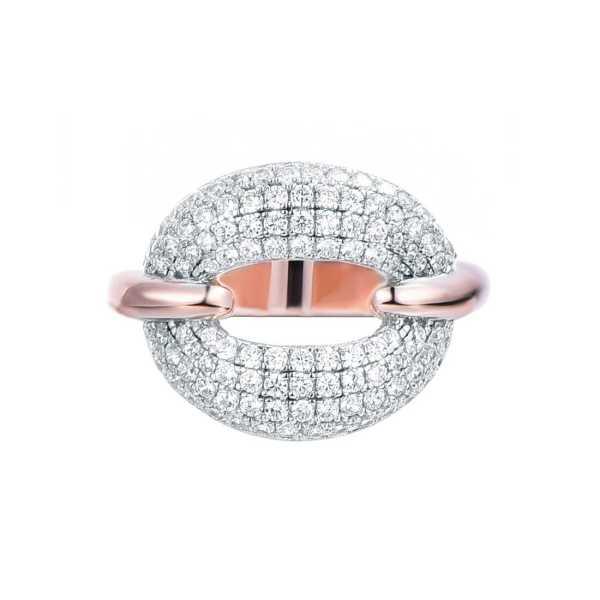 טבעת מכסף מעוצבת משובצת אבני זרקון