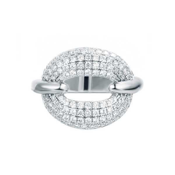 טבעת משובצת זרקונים כסף
