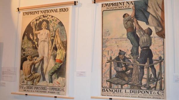 Affiches de l'exposition les artites de la grande guerre