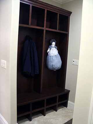 Coat closet shelving  Amish Custom Furniture
