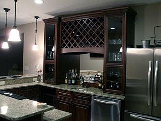 High end kitchen bar remodel  Amish Custom Furniture