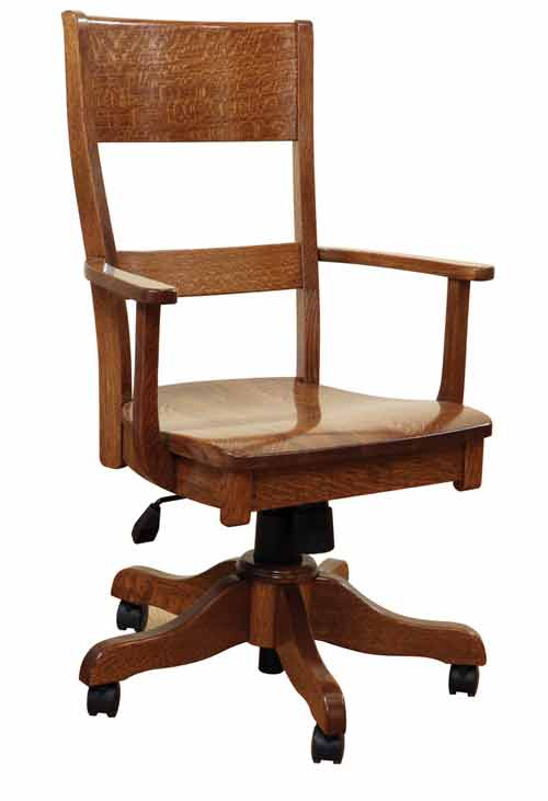 desk chair made clear kitchen chairs amish handcrafted and custom office jamestown