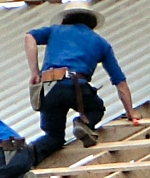 Amish Worker Roof