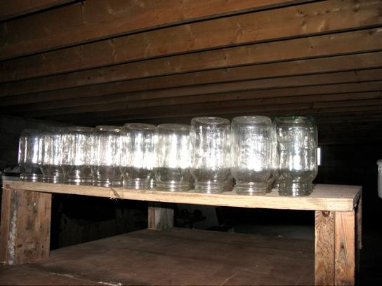 Empty Amish Mason Jars