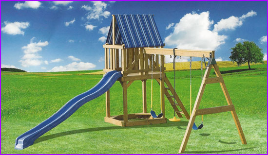 Amish Playhouses  Wood Playgrounds for Sale in Oneonta NY  Amish Barn Company
