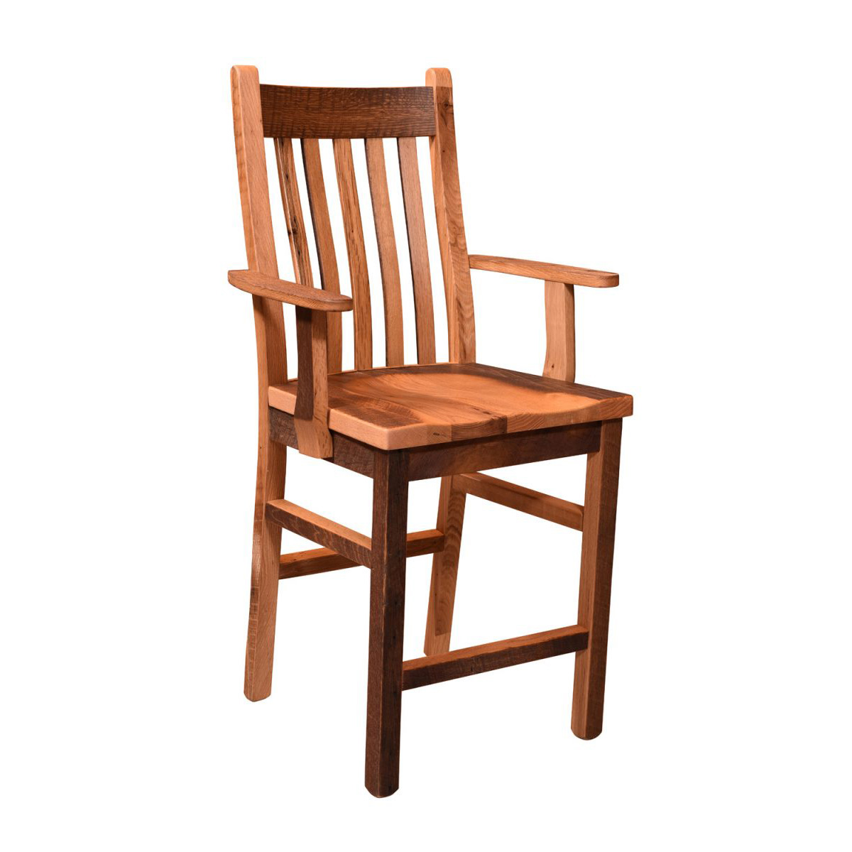 Mission Chairs Barnwood Mission Bar Arm Chair Amish Crafted Furniture