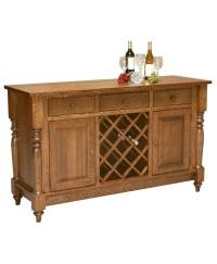Harvest Buffet With Wine Rack - Amish Direct Furniture