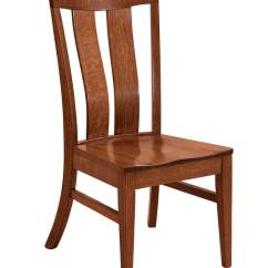 Brown Leather High Back Dining Chairs Plastic Chair Covers Target Sherwood Amish Direct Furniture
