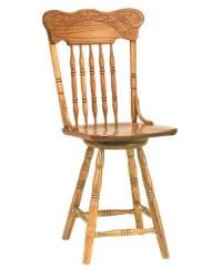 Spring Meadow Pressback Bar Stool - Amish Direct Furniture