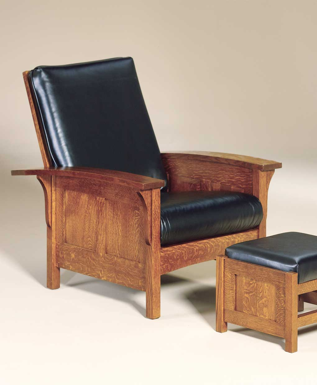 Bow Arm Panel Morris Chair  Amish Direct Furniture