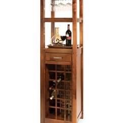 Tall Living Room Chairs Walmart Tables Brunswick Wine Tower - Amish Direct Furniture