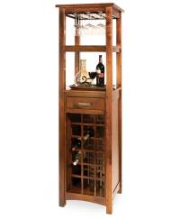 Brunswick Wine Tower - Amish Direct Furniture
